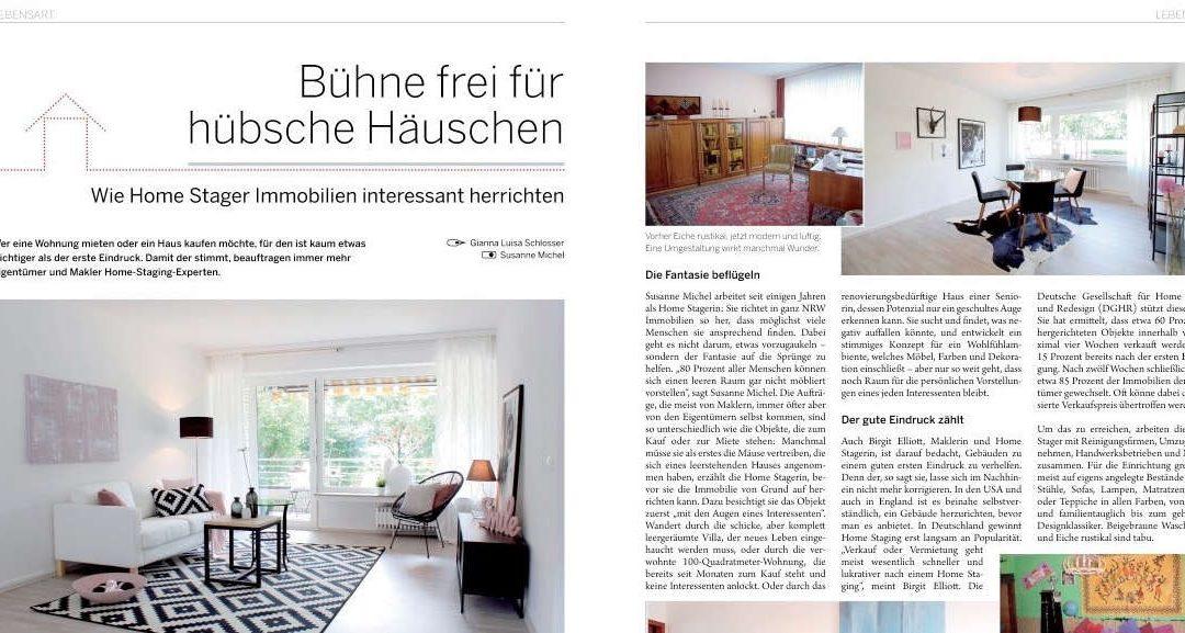 Reportage über Home Staging in Rhein-Ruhr-Magazin