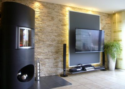 neugestaltung einer Kamin-und Fernsehecke